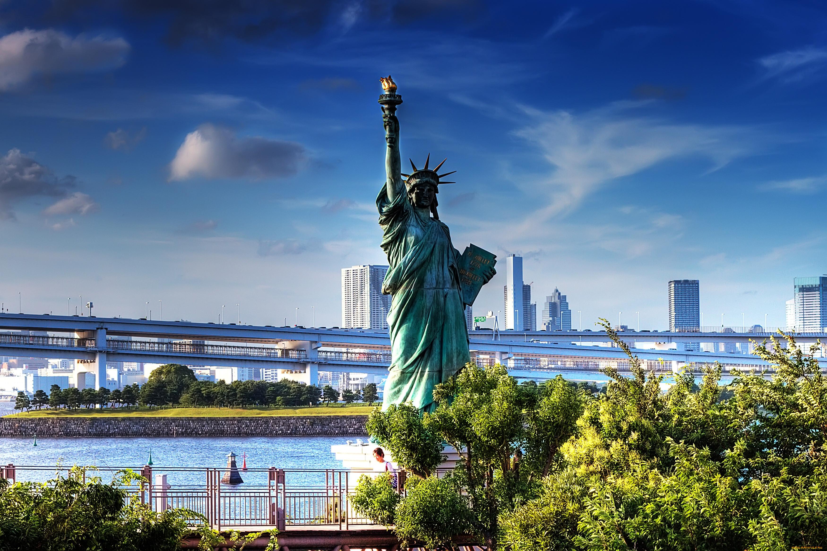 Как нарисовать Статую Свободы из Нью-Йорка